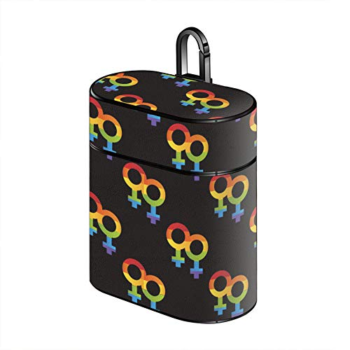 Luxury PU Leather Stand Protective Shockproof Cover Case Compatible with AirPods 1 & New Airpods 2 - LGBT Lesbian Pride
