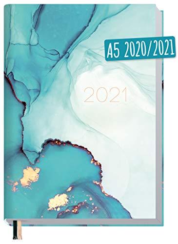 Chäff-Timer Classic A5 Kalender 2020/2021 [Smaragd Gold] Terminplaner 18 Monate: Juli 2020 bis Dez. 2021 | Wochenkalender, Organizer, Terminkalender mit Wochenplaner - nachhaltig & klimaneutral