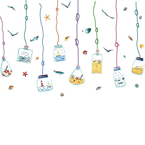 Adesivi Murali Bottiglia Alla Deriva Aula Soggiorno Semplice Carta Da Parati Adesivi Murali Camera Per Bambini Adesivi Decorazioni Autoadesive 75 * 115Cm