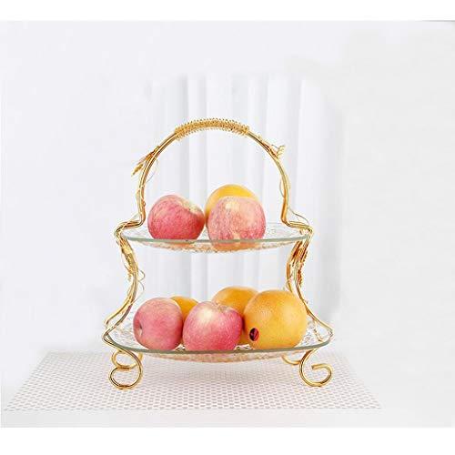 Cuenco De Fruta De Cristal Doble/Frutero Grande del Hotel De La Sala...