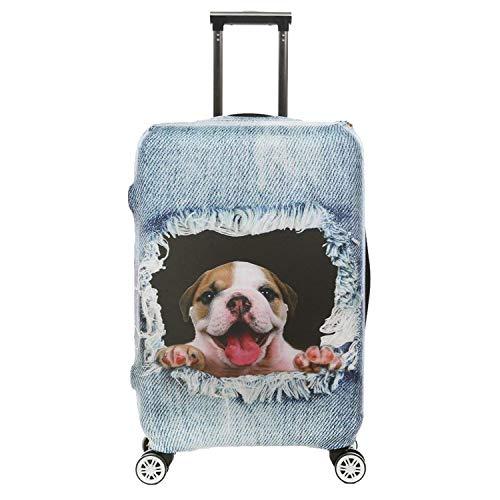 Custodia protettiva per valigia da viaggio con stampa 3D per cani Custodia protettiva per valigia da viaggio'25' con ventosa ed etichetta elastica alta taglia L con etichette per bagagli