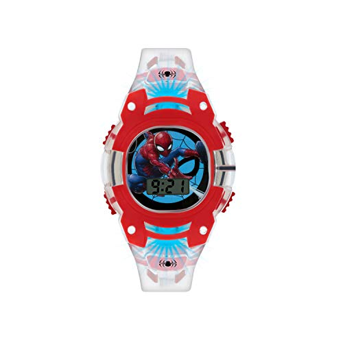 Spiderman Jungen Digital Uhr mit PU Armband SMH4000