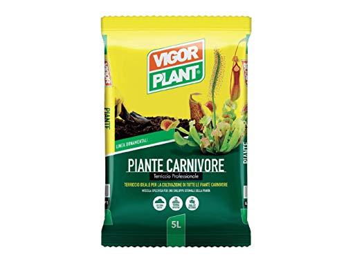 VIGORPLANT Terriccio per Piante Carnivore 5LT saracenia Dionea muscipula AMDGarden
