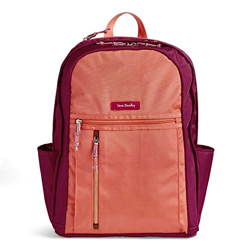 Vera Bradley Damen Lighten Up Grand Backpack, Polyester Rucksack, Southwest Colorblock, Einheitsgröße