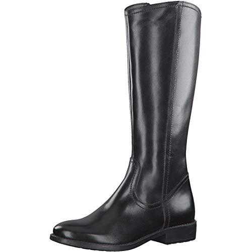 Tamaris Damen Stiefel 25598-33, Frauen KlassischeStiefel, Boots lederstiefel langschaftstiefel reißverschluss Damen Frauen Lady,Black,38 EU / 5 UK
