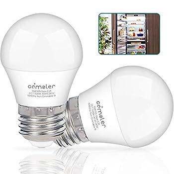 LED Refrigerator Light Bulb 6W Comzler A15 Waterproof Fridge Appliance Light Bulb with E26 Base 5000K Daylight Freezer Bulb Ceiling Fan Light Bulb 60 Watt Equivalent 120V Non-Dimmable  2 Pack