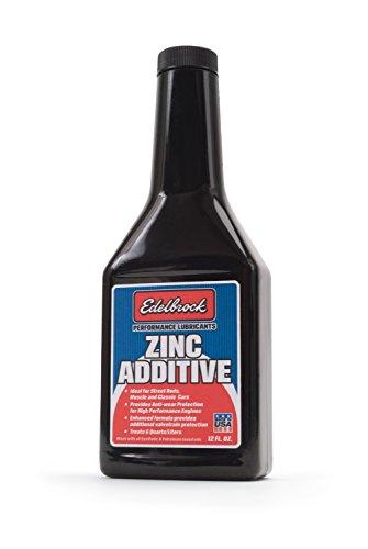 Edelbrock 1074 High Performance Engine Oil Additive with Zinc Enhanced Engine Protector - 12 oz.