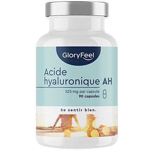 Acide Hyaluronique Capsules - 525mg Dosage Éléve - 90 Capsules Végétaliennes (3 Mois) - 500-700...