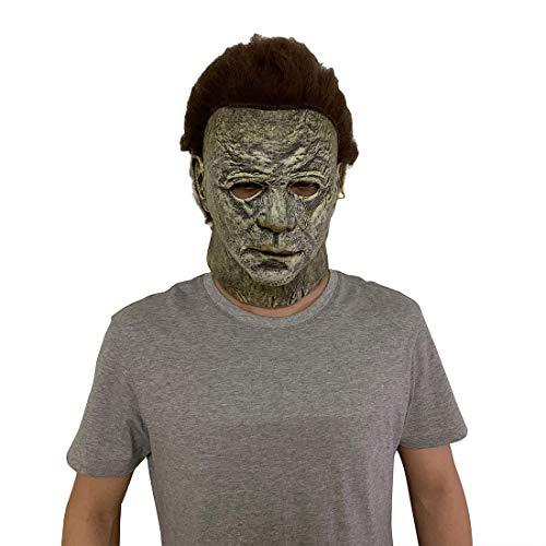 Yajaw Máscara de Halloween Michael Myers para Adultos látex Miedo Michael Myers Cosplay Disfraz Accesorios Navidad