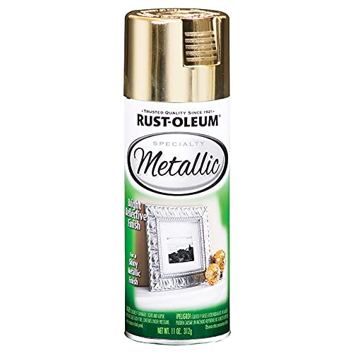 Rust-Oleum 1910830-6 PK Specialty Metallic 1910830 Spray Paint 11 oz, Gold, 6-Pack, 6 Pack, 66 Fl Oz