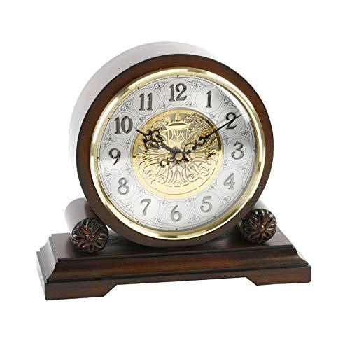 Watching Clocks Traditionelle Kaminuhr / Tischuhr aus Walnussholz, mit Westminster-Melodie