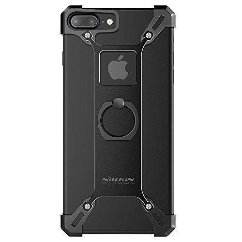 Carcasa para Apple iPhone 7 Plus de 5,5 pulgadas, carcasa de metal de Nillkin Barde Metal Case de aluminio con diseño único con función atril para iPhone 7 Plus de 5,5 pulgadas, color negro