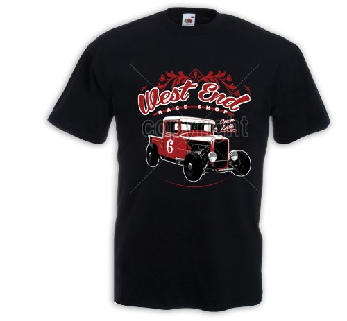 Hot Rod T-Shirt West End US Car Rockabilly Tattoo Pinup Rat Rod Zündkerze Gr.S