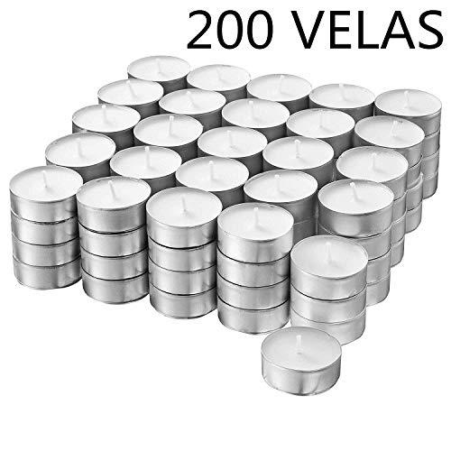 H HANSEL HOME 30-500 Velas de Te - Tealight - Blancas - Sin Perfume (200)