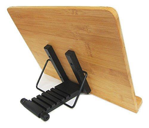 ブックスタンド 書見台 Lサイズ(39×28cm) 6段階調節 木製