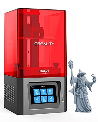 Creality Halot One Impresora 3D de Resina LCD con fotopolimerización UV Impresoras 3D SLA, Fuente de luz Integral, LCD Monocromo 2K de 6 Pulgadas, Wi-Fi Incorporado, impresión más rápida, CL-60