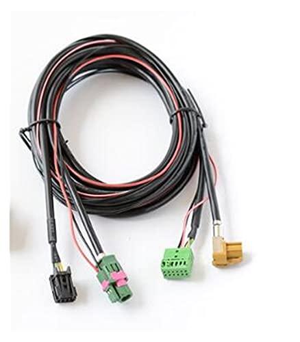 XIAO YANG MIB2 Carplay USB AUX Interruptor de carpaje MDI USB AMI Cable del arnés del Enchufe del Adaptador Ajuste para V.W Golf 7 MK7 5G0 035 222 F 5T0035726H (Color Name : Wit)