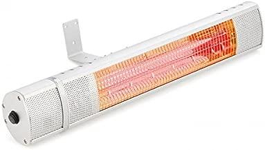 blumfeldt Gold Bar 2000 - Infrarot-Heizstrahler, Wand-Heizstrahler, max. 2000 Watt Leistung, regulierbar in 3 Stufen, einfache Installation, Gold-Infrarotröhre, Fernbedienung, Silber