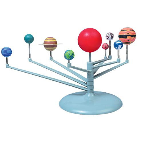 Odoukey Nine Planets Model Toys Solar System Planetarium Model Kit Kids Educational Toy Science Education Tool Bedroom Desk Decoration Accessories for Kids Game Toys and Gifts