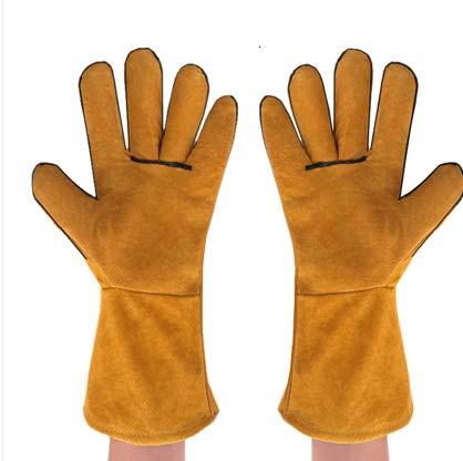 TYXHZL lashandschoenen, leer, gewatteerd, arbeidszekering, bescherming tegen verbranding, hittebestendig, slijtvast, laswerk, tuinbouw, grill, leren handschoenen, kopen 1 ontvang 8,C