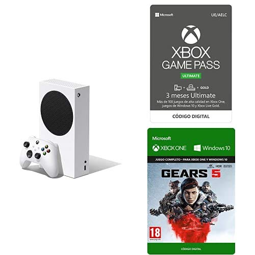 Xbox Series S + Xbox Game Pass Ultimate (3 Monate) + Gears 5 (Xbox Download Code)