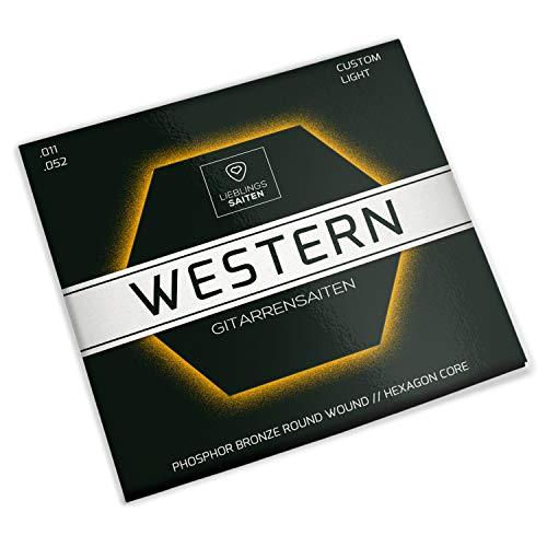 Gitarrensaiten Westerngitarre - Stahl Phosphor Bronze Saiten für Western-Gitarre & Akustikgitarre | 6 Saiten-Set