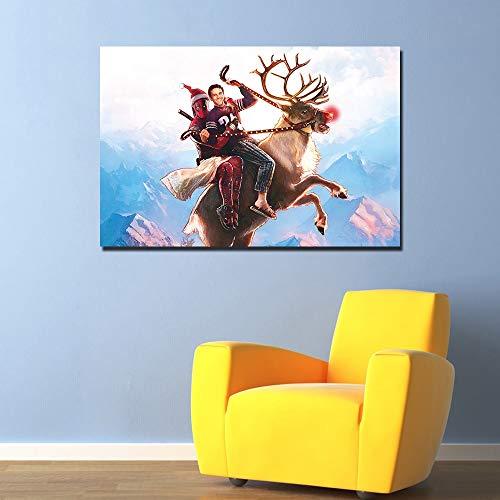 PLjVU Lustiges Kunstwerkplakat Leinwandmalerei Wandkunst Bilddruck Wohnzimmer-Rahmenlos40x50cm