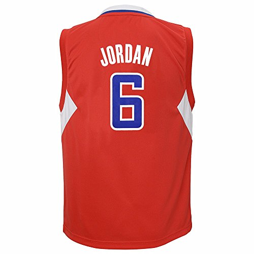 adidas Deandre Jordan Los Angeles Clippers NBA Boys Red Official Road Replica Basketball Jersey (7)
