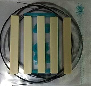 Generic 1 set Ukulele Strings B F# D A Black Nylon Plus 5 pc Plastic Ukulele Saddles 60 x 3x 8.0-7.8 mm