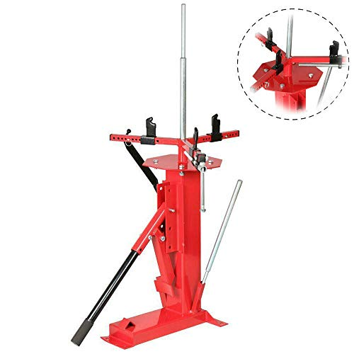 """Roadstar Multifunctional Manual Tire Changer Fit for Cart Trailer Bike ATV Truck 4"""" to 16-1/2"""" Tires Steel Red"""