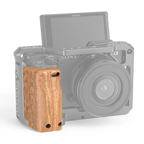 SMALLRIG Wooden Handle Handgrip for Sony A6400 Cage – APS2318