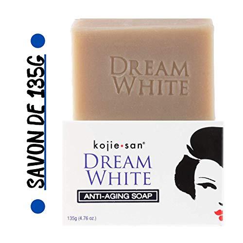 Kojie San - Savon Éclaircissant & Anti-Age de 135g, Authentique et Original Kojie San Dream White Soap à l'Acide Kojique, Collagène et Élastine (Savon de 135g)