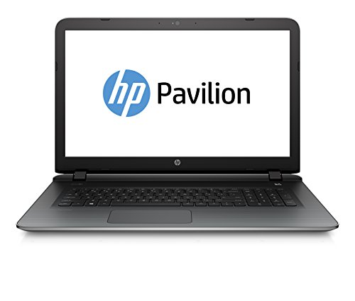 HP Pavilion 17-g110ng 43,9cm (17,3 Zoll Full HD) Laptop (Intel Core i7-6500U, 12 GB RAM, 1 TB HDD, NVIDIA GeForce 940M /4GB, DVD-Brenner, Windows 10) silber