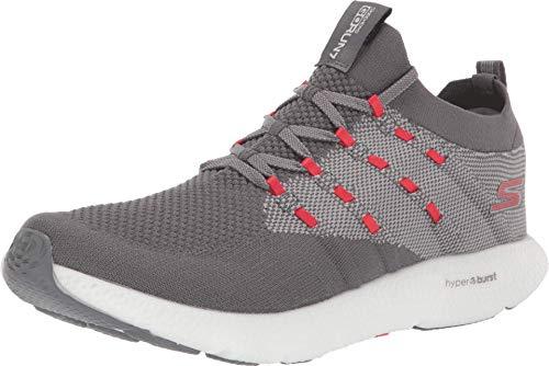 Skechers Mens GOrun 7 Charcoal/Red Sneaker - 7