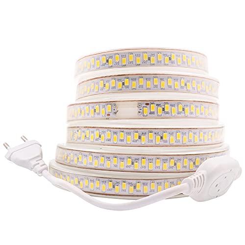 Striscia LED, striscia LED, striscia luminosa, striscia LED 220 V AC 5730 180 LEDs/m IP68, striscia luminosa LED (bianco freddo), Bianco freddo, 35m