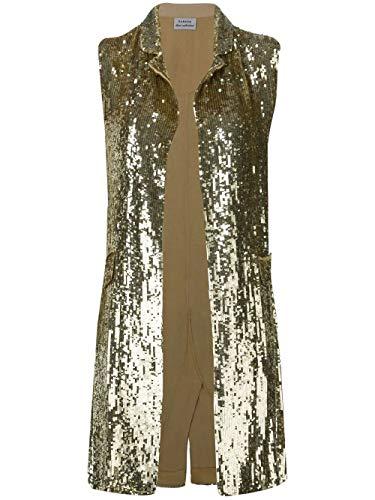 Luxury Fashion | P.a.r.o.s.h. Dames D410523053 Goud Viscose Gilets | Seizoen Permanent
