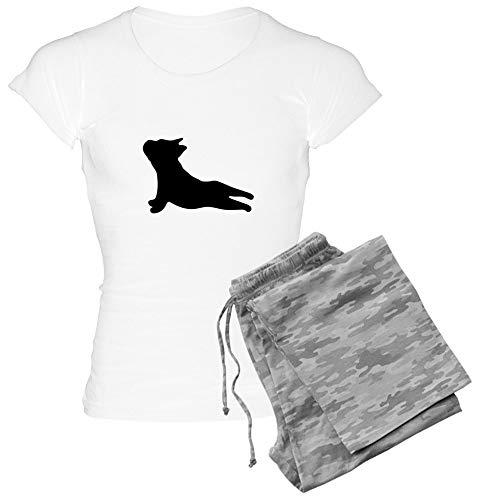 CafePress French Bulldog Yoga Pajamas Womens Novelty Cotton Pajama Set, Comfortable PJ Sleepwear