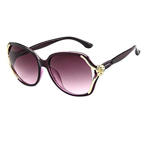 LODDD New Mens Womens Rose Big Frame Retro Vintage Sunglasses Fashion Eyeglasses