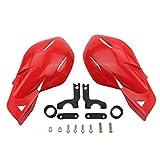 GOOFIT 7/8'Manillar Manillar Protectores de cepillo de mano Conjunto de protectores de manos reemplazo para Motocross Motocicleta Offroad Pit Dirt Bike ATV Rojo