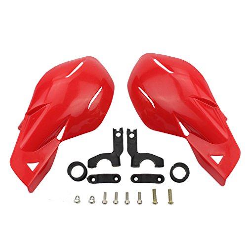 "GOOFIT 7/8""Manillar Manillar Protectores de cepillo de mano Conjunto de protectores de manos reemplazo para Motocross Motocicleta Offroad Pit Dirt Bike ATV Rojo"