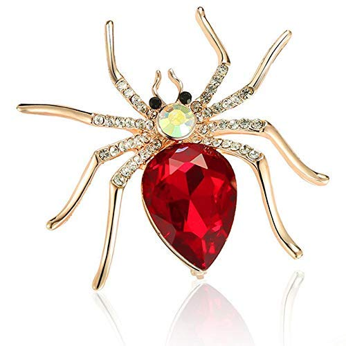 Fliyeong Fashion Alloy Spider Crystal Brooch Women's Dresses Womens Clothing Durable and Useful