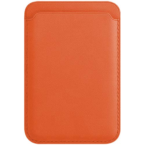 3Ciker Funda para Apple iPhone 12/12 Mini /12 Pro /12 Pro Max Leather Wallet Magnético con MagSafe RFID Tarjetero Case para iPhone 12/12 Mini /12 Pro /12 Pro Max (naranja)
