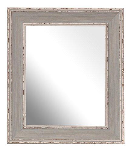 Inov8 Lot de 4 grands miroirs traditionnels britanniques Bleu 25,4 x 20,3 cm