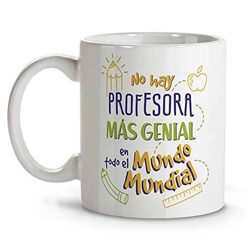 LolaPix Taza Profesora. Regalos Originales. Tazas Desayuno Originales. Varios diseños. Profesora Mundial