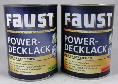 2x 0,5 L Faust Power Deck-Lack Acrly Polarblau glänzend innen&außen 1 Liter