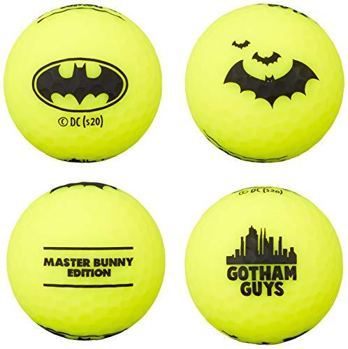 [マスターバニー] ゴルフ用 ボール 【 BATMAN コラボ 】 バットマン ゴルフボール (4個セット 非公認球) 06...