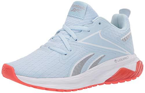 Reebok Women's LIQUIFECT 180 SPT Running Shoe, Glass Blue/White/Vivid Orange, 9 M US