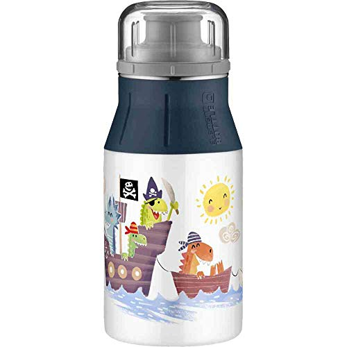 alfi Trinkflasche für Kinder elementBottle 400ml Abendteuer, Kinderflasche auslaufsicher, dicht bei Kohlensäure, 5357.202.040 BPA Frei, Flasche ideal für Saftschorle, Wasser oder Tee