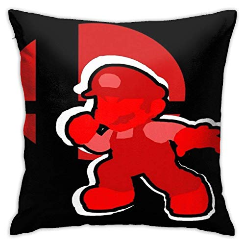 WH-CLA Couch Cushions Mario (Individual) Super Smash Bros.Funda De Cojín Cuadrado para El Hogar, 45 X 45 Cm, Sofá, Dormitorio, Oficina, Animación, Funda De Almohada, Funda De Almohada, C
