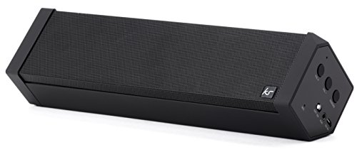 KitSound BoomBar 2 Universal Stereo Bluetooth Wireless Soundsystem für Apple iOS und Android Smartphones, Tablets und MP3-Playern - Schwarz